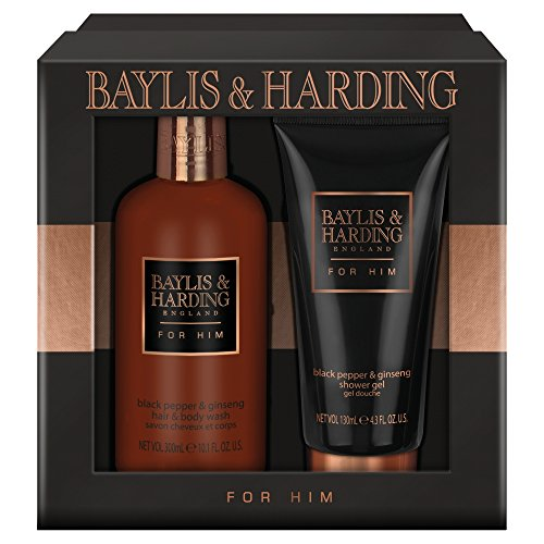 Baylis & Harding schwarzer Pfeffer & Ginseng Hair Body Wash Duschgel für ihn 2 Pcs