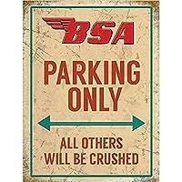 Motorbike Parking Only 注意看板メタル安全標識注意マー表示パネル金属板のブリキ看板情報サイントイレ公共場所駐車