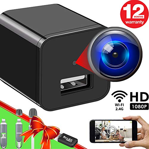 Purchase Spy Camera Wireless Hidden WiFi Camera with Remote View - HD 1080P - Spy Camera Charger - S...