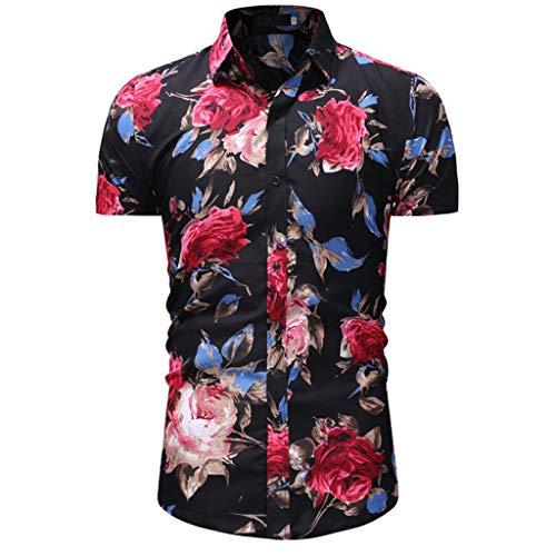 CICIYONER Herren Hawaiihemd 3D Gedruckt Muster Kurzarm Aloha Freizeit Hemd Button Down Graphic Hemden Shirts M L XL XXL XXXL