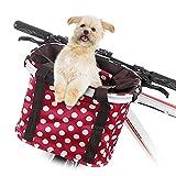 Lixada Cestino Anteriore Bici Collassabile per Cani Gatti, Cestello da Manubrio Rilascio Rapido Borsa per Il Ciclismo Shopping Picnic Max Cuscinetto: 5 kg (11lb)