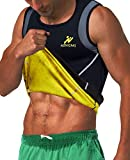 NINGMI Chaleco Sauna Hombre Entrenador Cintura de Neopreno Fajas Reductoras Efecto Camiseta para Correr
