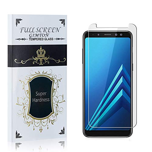 GIMTON Displayschutzfolie für Galaxy A8 Plus 2018, 9H Härte Schutzfilm aus Gehärtetem Glas für Samsung Galaxy A8 Plus 2018, 99% Transparenz, Keine Luftblasen, 1 Stück