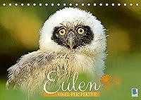 Eulen: Vogel-Perspektive (Tischkalender 2022 DIN A5 quer): Eule, Uhu und Kauz: Faszinierende und anmutige Jaeger (Monatskalender, 14 Seiten )