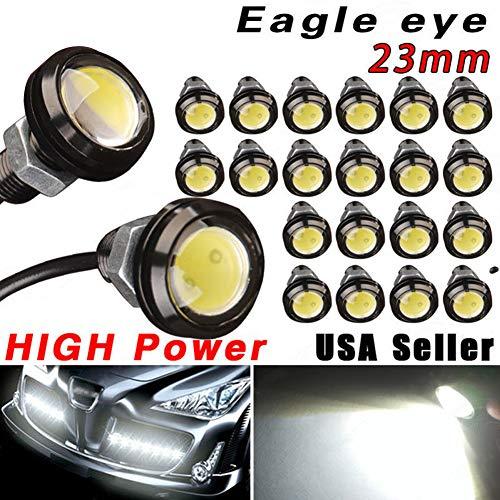 Elegantstunning Lot de 2 feux de signalisation de stationnement 23 mm 9 W DC 12 V Eagle Eye de jour LED DRL de secours de voiture