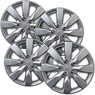 Motorup America Auto Hubcap Set of 4, 16 inch Snap On Wheel Covers - Fits 14-16 Toyota Corolla