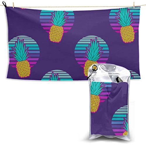 Toallas Beach Towels Shower Towels Natación Toalla de baño Moda Verano Fruta colorida Piña Toallas de playa Secado rápido Bathroom Towels 160X80CM