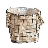 Maceta, macetero para plantas – resistente cesta de lino para plantas, moderno contenedor de almacenamiento tejido para macetas, organizador, decoración rústica para el hogar