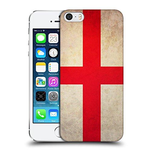 Head Case Designs St. George Inghilterra Bandiere Vintage Cover Dura per Parte Posteriore e Sfondo di Design Abbinato Compatibile con Apple iPhone 5 / iPhone 5s / iPhone SE 2016