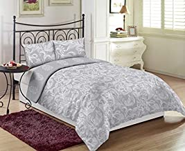 Gray King Size 260 x 280 cm Regency Bedding Set - 3 Pieces