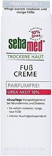 sebamed TROCKENE HAUT Fußcreme Urea Akut 10%, mit 10% Urea, Akutpflege für extrem trockene, rissige und raue Füße, Hautverträglichkeit dermatologisch-klinisch bestätigt, Inhalt 100 ml