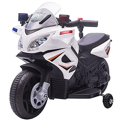 HOMCOM Kinder Polizei Elektromotorrad...