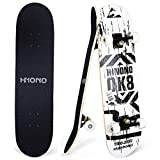 ToyerBee Skateboards with A Repair Kit, 31' x 8' Complete Skateboard for Kids & Adults, 9 Layer Canadian Maple Double Kick Skate Board for Extreme Sports and Outdoors, Skateboards for Beginners &Pro