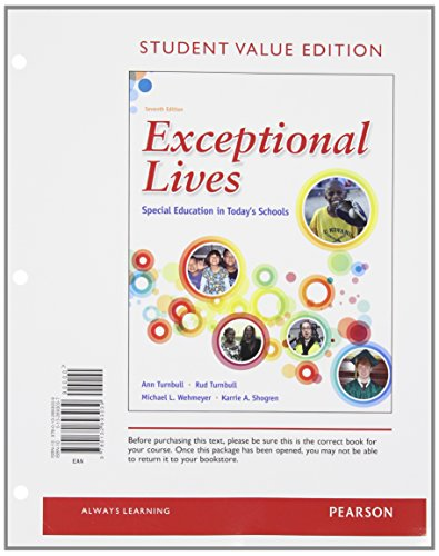 Exceptional Lives: Special Education in Today's Schools, Student Value Edition (7th Edition)