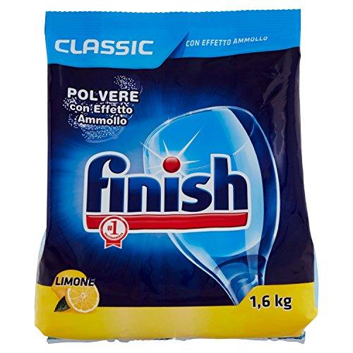 Finish -Classic limón- Detergente en polvo para lavavajillas,2envases de 1600g [3200g]