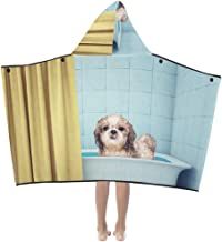 Kids Bed Blanket Cute Wet Shitzu Dog in The Bath Picture Id66420626 Kids Hooded Blanket Bath Towels Throw Wrap for Toddler Child Girl Boy Home Travel Sleep Throw Blankets for Kids