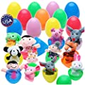 "20 Easter Egg Toys Surprise with Fun Finger Puppets Inside - Animal Finger Puppets in Plastic Eggs 2.4"" x 1.6"" (6cm x 4cm) Each Perfect for Easter Egg Hunt, Birthdays, Kids Gifts and Party Favors by BetterLine"