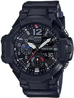 Casio Men's Black Dial Plastic Band Watch - GA-1100-1A1ER