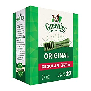 GREENIES Original Regular Natural Dog Dental Care Chews Oral Health Dog Treats, 27 oz. Pack (27 Treats) (B000KEVF32) | Amazon price tracker / tracking, Amazon price history charts, Amazon price watches, Amazon price drop alerts