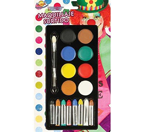 Rudy Paleta maquillaje Payaso AL Agua aplicador, Multicolor