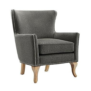 Dorel Living Reva Accent Chair, Charcoal