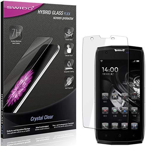 SWIDO Panzerglas Schutzfolie kompatibel mit Archos Sense 50 X Bildschirmschutz-Folie & Glas = biegsames HYBRIDGLAS, splitterfrei, Anti-Fingerprint KLAR - HD-Clear