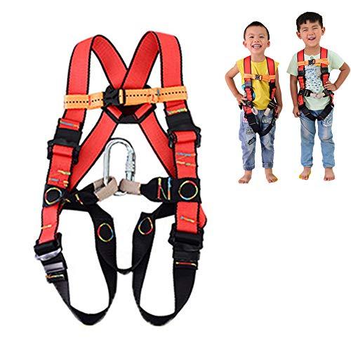 Aprilhp Ganzkörper-Klettergurt für Kinder, passend für 3-10 Jahre, Sicherheitsgurt Absturzsicherung für Kletterhalle und Kletterwand, Bergsteigen Wanderung Bergwanderer, Fallschutz