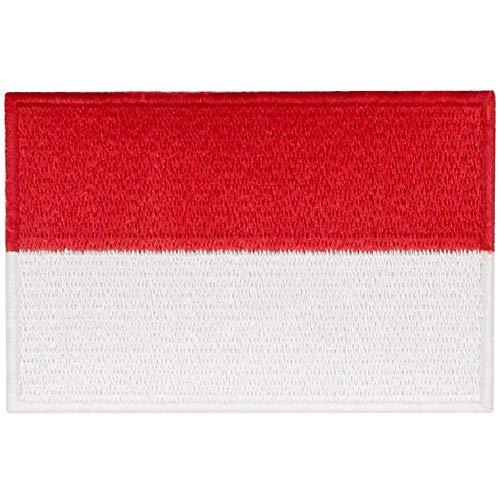Indonesien Flagge National Bestickter Aufnäher zum Aufbügeln/Annähen