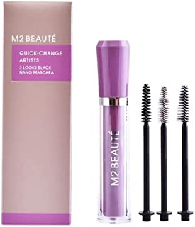 M2 Beaute 3 Looks Black Nano Mascara For Women 0.2 oz Mascara