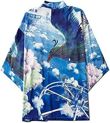 yangyanfengfei Ms Kimono Cardigan Blue Free shipping Max 42% OFF on posting reviews Anime Japanese S