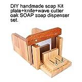 Holz Handgemacht Seifenschneider DIY Seife Seifenform werkzeug Loaf Cutter Set + Edelstahl Stee...