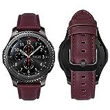 MroTech 22mm Correa Cuero Compatible con Samsung Galaxy Watch 46mm/Gear S3 Frontier/Classic Pulsera...