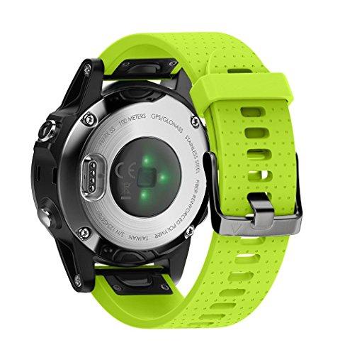 Cobar voor Fenix 6S, Fenix 6S Pro,fenix 6s pro saffier, Fenix 5S, Fenix 5S Plus Band, zachte siliconen vervangende horlogeband voor Garmin Fenix 5S en Fenix 5S PLUS Smart Watch, Fenix 5S, Green h