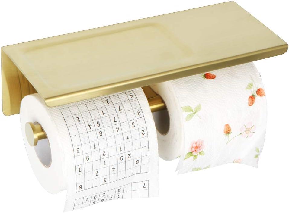 Alise Double Toilet Paper Holder Super-cheap Bathroom Denver Mall Roll Tissue wit