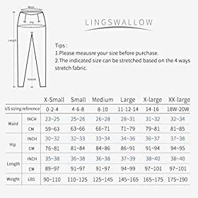 Lingswallow High Waist Yoga Pants – Yoga Pants with Pockets for Women Workout Running, 4 Ways Stretch Yoga Leggings