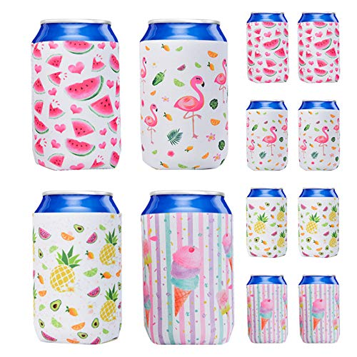 WERNNSAI Puede Refrigerador Manga - Juego de 12 Neopreno Enfriador de latas Cerveza Refresco soda coolies para bodas despedidas de soltera cumpleaños
