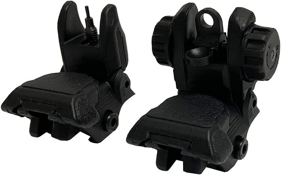 TPO Polymer Flip up Max 57% OFF Backup Online limited product Front and Rear Folding Sights