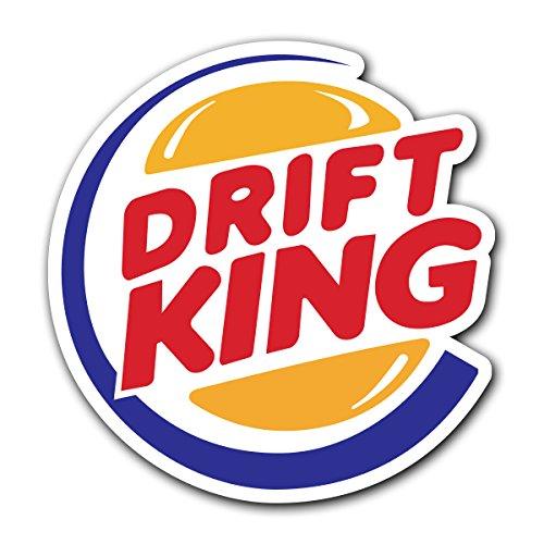 CUSTOMI Drift King JDM Decal Sticker for Car Truck MacBook Laptop Air Pro Vinyl