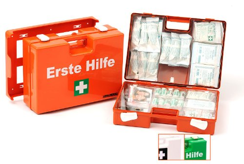 LEINAWERKE 38037 Erste Hilfe-Koffer ÖNORM Z 1020 Typ I grün - mit Druck: 2-farbig, 1 Stk.
