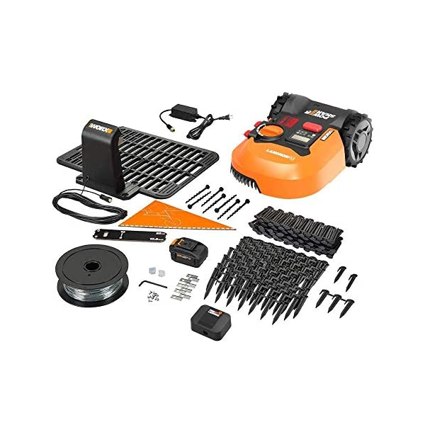 WORX WR143 Landroid M 20V PowerShare Robotic Lawn Mower with GPS Module Included 2
