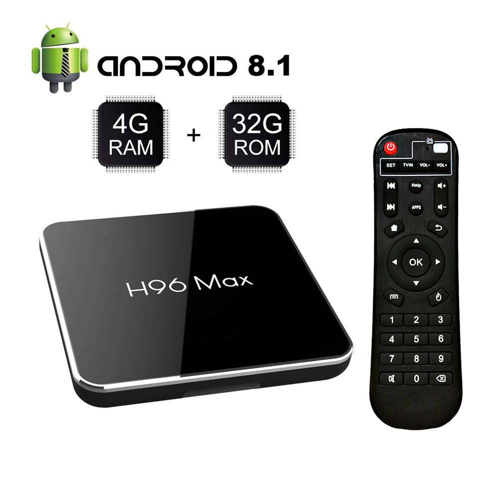 Android 8.1 TV Box S905 X2 Quad-Core with 4GB RAM 32GB ROM Support 2.4G/5G WiFi/H.265 Decoding/4K Full HD Output/ HDMI3.0/ 100M Ethernet/ Bluetooth 4.1 Smart TV Box: Amazon.es: Electrónica