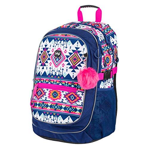 Baagl Schulrucksack für Mädchen - Schulranzen für Kinder mit ergonomisch geformter Rücken, Brustgurt und reflektierende Elemente (Boho)