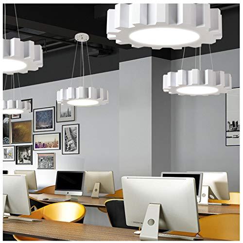 Kroonluchter LED Gear Hanging Line Licht Creatieve Gym Office verlichting netwerk Gamma Industrial Wind acryl dunne kroonluchter Wit 60cm