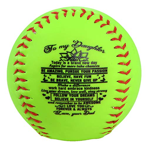 WONGS BEDDING Practice Softball Official Size and Weight Softball for Softball Practice Fastpitch and Slowpitch Training Softball Kids Teens Sporting Goods Gift from Mam to Daughter