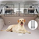 Vetoos Car SUV Dog Barrier, Vehicles Pet Divider Gate for Trunk Cargo Area - Extendable for Universal Fit, Foldable for Easy Storage, Straps & Bungee Cords for Double Stability, Rust-Proof Metal Mesh