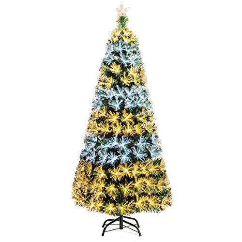 Goplus 7ft Pre-lit Artificial Christmas Tree