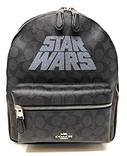 COACH Star Wars X Coach Medium Charlie Backpack in Signature Canvas with Motif