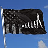 ALLdelete# Flags Drapeaux d'extérieur Worn-Out USA Flag Evolution Rugby 3X5 Ft Flag for Outdoor Indoor Home Decor Sports Fan Football Basketball Baseball Hockey