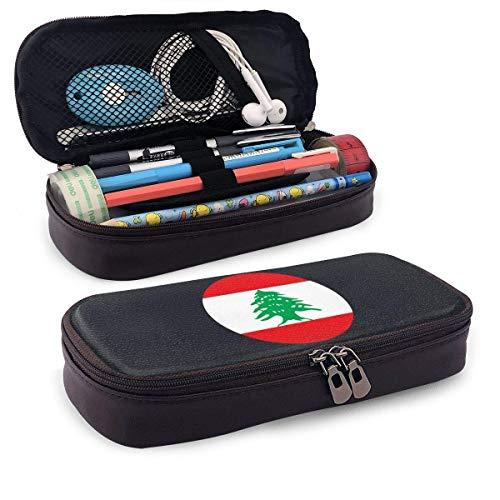 koniqiwa Libano Estuche De Cuero para Lápices, Lápices, Resaltadores, Bolsa para Útiles Escolares, Estudiantes