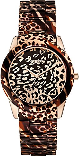 GUESS Womens Analogue Quartz Watch with Stainless Steel Strap W0425L3